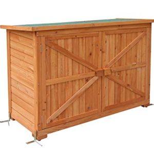 MCombo - Armadio da giardino, in legno