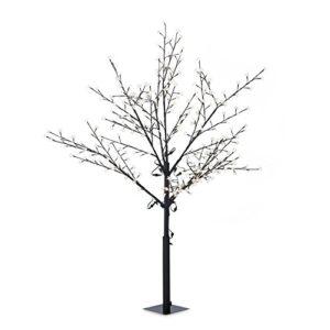 Albero illuminato illuminazione esterna design fiori ciliegio 336 LED bianco caldo 18 m altezza fili flessibili 10 m nero